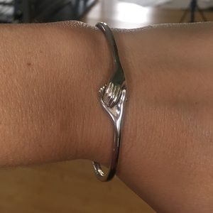 Jewelry - Holding Hands Sterling Bracelet